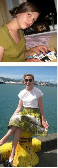 Getting ready to work on a project, and by the bay in Wellington, NZ, where I live