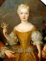 Alexis Simon Belle (1674–1734) Portrait of Louis XIVs fiancée the Infanta Mariana Victoria of Spain, circa 1723