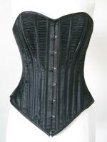 1890s Black Corded Corset