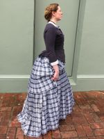 Pleated plaid 1883 skirt
