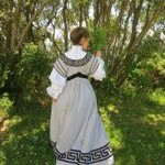 1900s Greek Key Afternoon dress thedreamstress.com