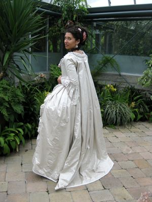 as a wedding dress by Lady Anne Darcy the mother of Mr Darcy of Jane