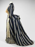 Walking dress House of Worth  (French, 1858–1956) Designer- Charles Frederick Worth (French (born England), Bourne 1825–1895 Paris) Date- ca. 1885 MetM