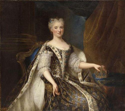 François Albert Stiemart, Marie Leszczyńska at Versailles, 1726
