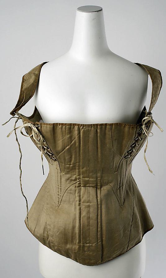 Corset (nursing corset?), 1810–50 American, Metropolitan Museum of Art, C.I.45.111