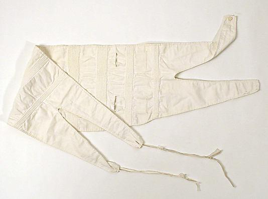Corset, 1830–49, American or European, cotton, Metropolitan Museum of Art, 1996.386.2
