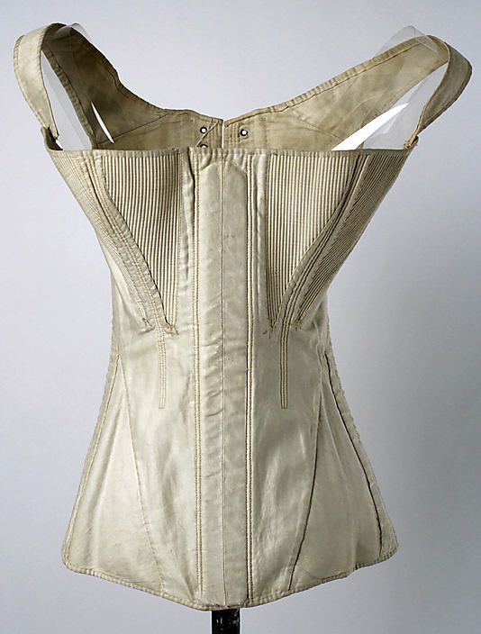 Corset, 1840s, American, cotton, Metropolitan Museum of Art, C.I.37.45.93