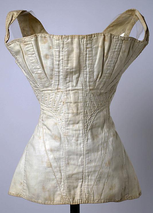 Corset, 1840s, American or European, cotton, Metropolitan Museum of Art, C.I.42.74.12