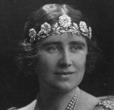 Elizabeth the Queen Mother in the Strathmore Rose tiara