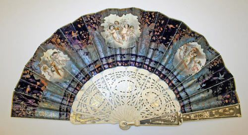 Fan with ivory sticks, late 19th century, Metropolitan Museum of Art