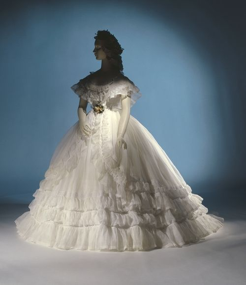 Rate the Wedding Dress: 1860s cotton ruffles - The Dreamstress
