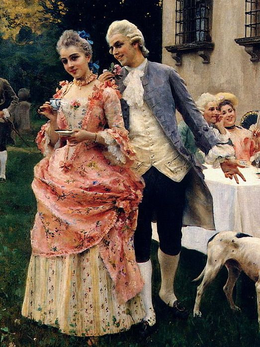 Frederico Andreotti, An Afternoon Tea (detail) 1880s
