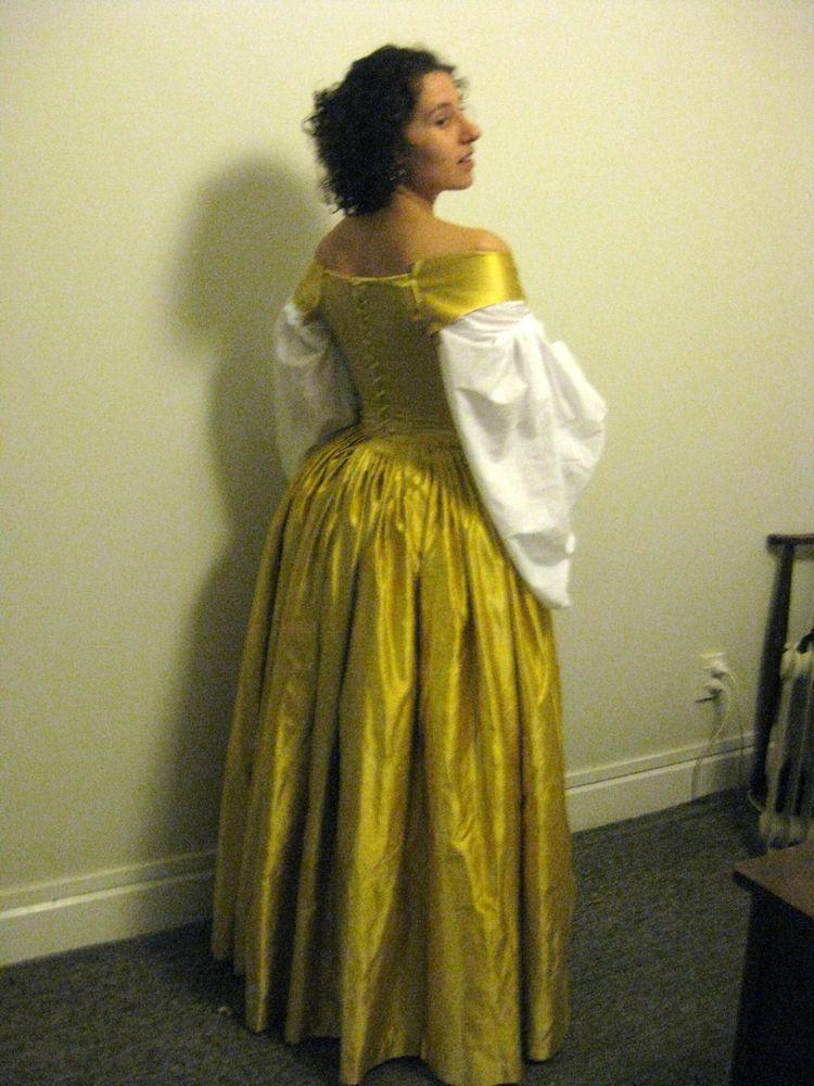 1660s dress progress thedreamstress.com