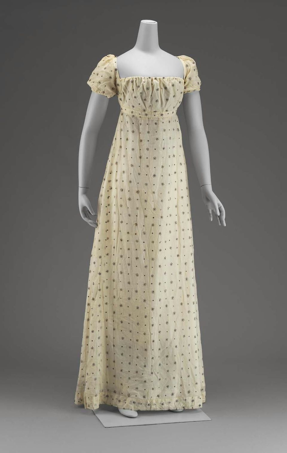 White mull dress american early 19th c mfa boston 53 for 19th century wedding dresses