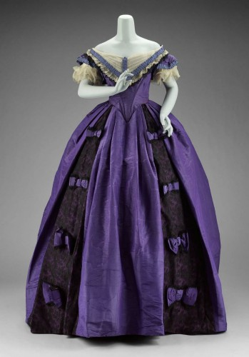 Dress (evening bodice), 1860s Jessie Benton Fremont, American, MFA Boston
