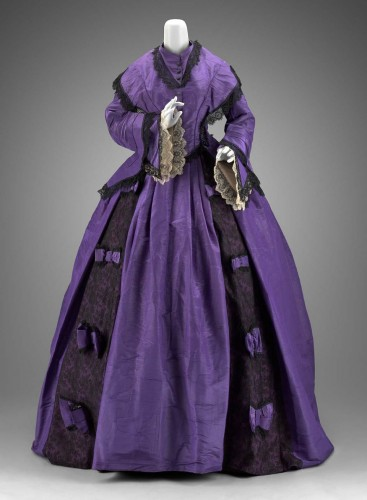 Dress (afternoon bodice), 1860s Jessie Benton Fremont, American, MFA Boston