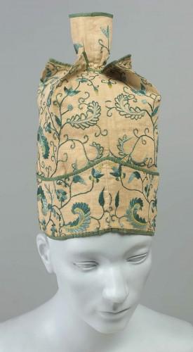 Man's cap, American (Boston, Massachusetts), 18th century, MFA Boston