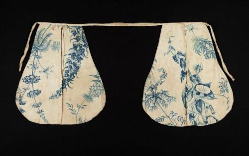 Pocket, printed cotton & linen, 18th c, American, MFA Boston, 48.1218
