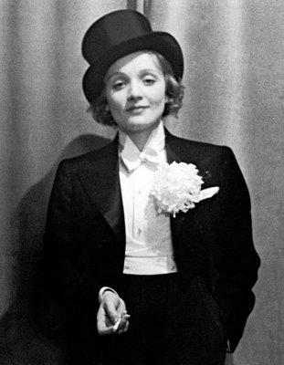 Marlene Dietrich in a tuxedo for 'Morocco' (1930)