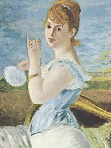 Manet's Nana, 1877 (detail)