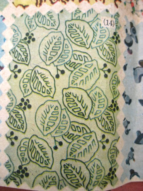 I love this leaf fabric, and its in my favourite colours