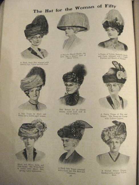 Hats For The Woman Of 50 1911 The Dreamstress