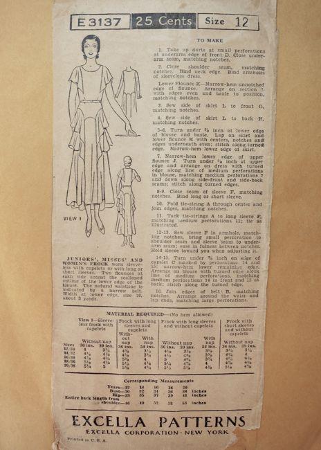 Excella E3137 ca. 1930 frock