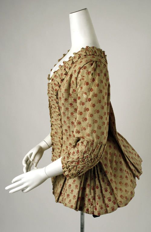 Caraco jacket, late 18th century, cotton, Belgian, Metropolitan Museum of Art
