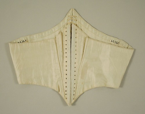 Swiss waist, 1860s, American or European, via the Met