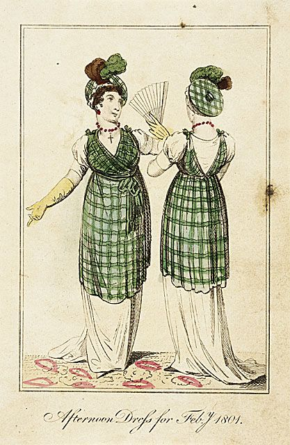 Fashion plate featuring afternoon dress, February 1801, LACMA
