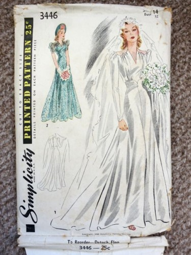 1930s wedding dress pattern images for 1940s wedding dress patterns