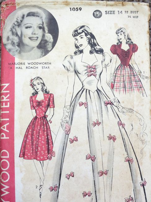 1940s Hollywood Evening Gowns: Historical Sew Fortnightly '14 Challenge #3: Pink