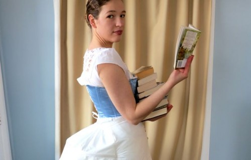 Books and bustles are both good