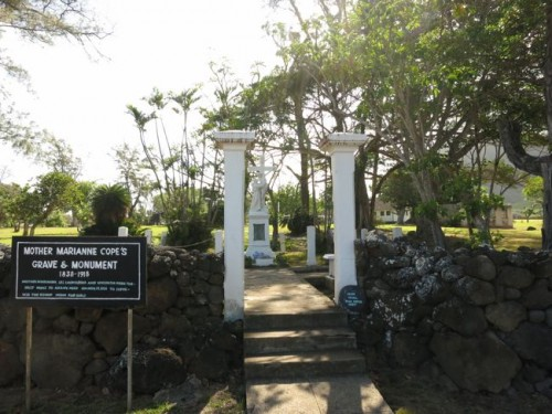 Mother Marianne Copes memorial, Kalaupapa township