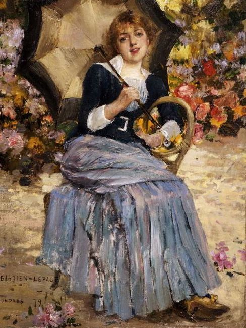 Girl with a Sunshade (Jeanne Samary), Jules Bastien Lepage, 1879