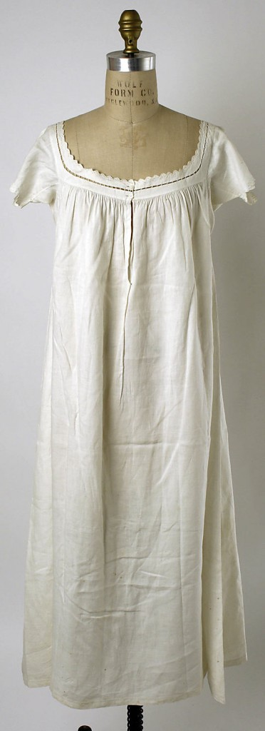 Chemise, 1840–59, American, linen, Metropolitan Museum of Art