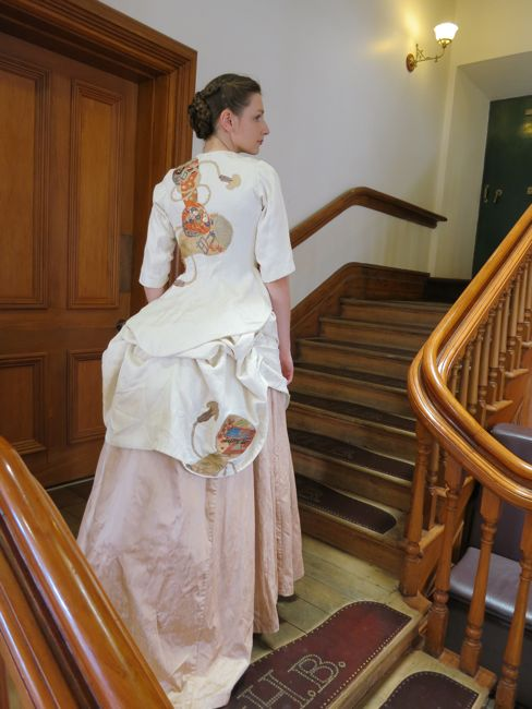 Rachel on the staircase