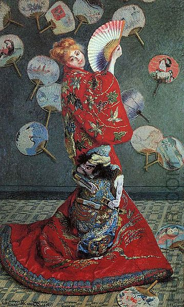 La Japonaise, Madame Monet en costume japonais, 1876, MFA Boston