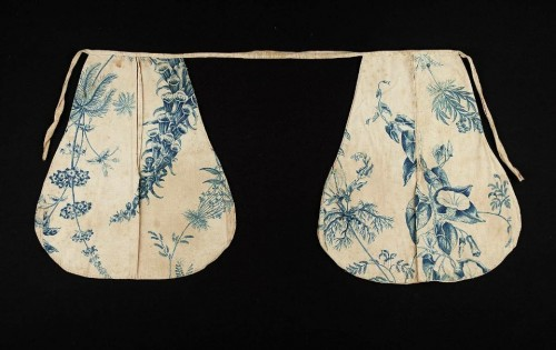 Pocket, printed cotton & linen, 18th c, American, MFA Boston