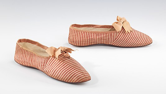 Shoes, 1845–60, French (probably), cotton, silk, Metropolitan Museum of Art