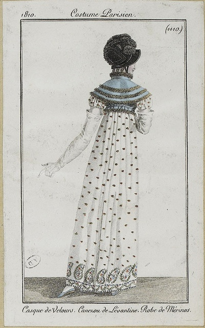 Dress with paisley design, 1810