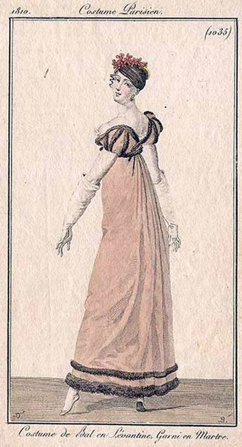 Fashion plate featuring a ballgown, 1810