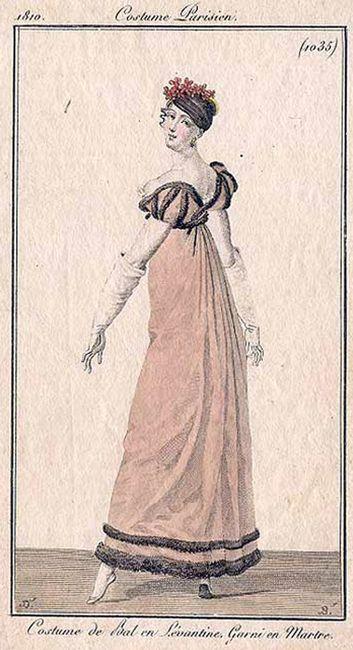 Fashion plate featuring a ballgown, 1810