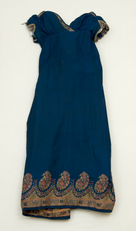 Evening dress, 1815, cotton & silk, Snowshill Wade Costume Collection, Gloucestershire