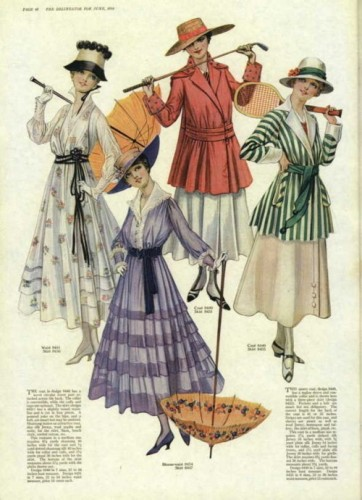 Day and sport dresses, 1916, US, the Delineator