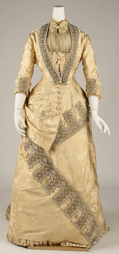 Dress, ca. 1879, French, Maison Cecile Laisne, Metropolitan Museum of Art