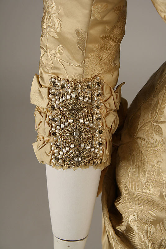 Dress (detail), ca. 1879, French, Maison Cecile Laisne, Metropolitan Museum of Art