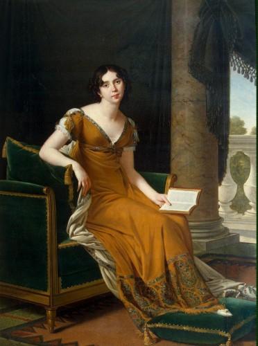 Elisabeth Alexandrovna Stroganoff countess Demidoff (1779-1818) by Robert Lefèvre, ca. 1805 Hermitage Museum St Petersburg