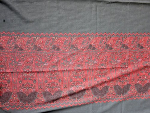 Paisley borders on the twill weave