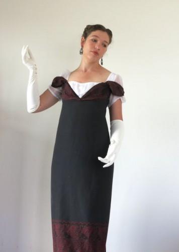The finished sleeve drapes